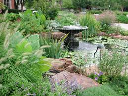 small backyard landscaping garden pond with fountain pictures