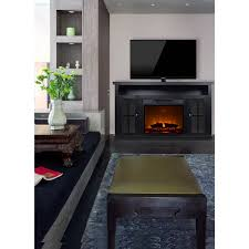 decor monarch 56 media fireplace for tvs up to 65 black