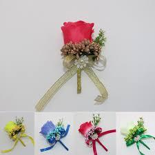Corsage Flowers Aliexpress Com Buy Best Man Groom Boutonniere Silk Satin Rose