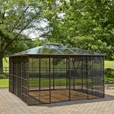 Outdoor Patio Gazebo 12x12 by Furniture Best And Sturdy Garden Gazebos For Seating On Backyard