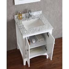 buy martin 24 solid wood single bathroom vanity in white hm 001