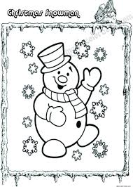 christmas snowman winter coloring pages online free