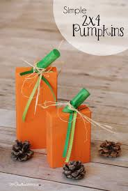 Simple Fall Crafts For Kids - super simple 2x4 pumpkins onecreativemommy com