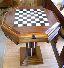 art deco game table chess checkers backgammon for sale at 1stdibs