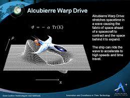 alcubierre warp drive time travel