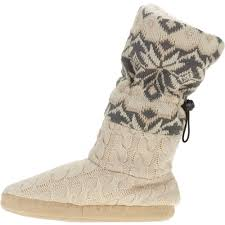 womens boots at walmart s knitted slipper boot walmart com