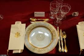 inaugural luncheon head table president trump and melania have their first meal daily mail online