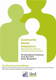community based adaptation mainstreaming cba into national and