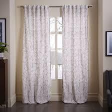 Cotton Canvas Curtains Cotton Canvas Vine Leaves Curtain Gray West Elm My