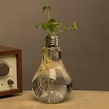 2017 diy new glass bulb lamp shape flower water plant hanging vase
