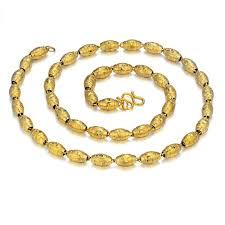 golden necklace men images 2018 african beads gold necklace for women men gold color golden jpg