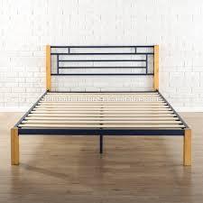 Wood And Metal Bed Frames Single Metal Bed Frame With Wood Legs Single Metal Bed Frame With