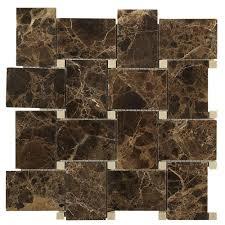 splashback tile orchard dark emperador crema marfil 11 in x 11 in