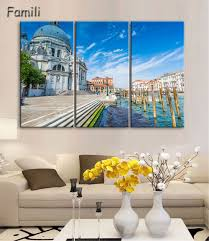 compare prices on venice wall art online shopping buy low price 3 panels venice canvas paintings landscape picture print giclee artwork wall art for home wall decoration