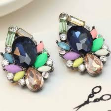 fashion earrings women s fashion earrings new arrival brand sweet metal with gems