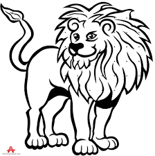 lion drawing black white free clipart design download