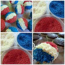 Red White And Blue Chocolate Diary Of A Mad Hausfrau Cupcake Couture Party Winner U0026 Snow Cone