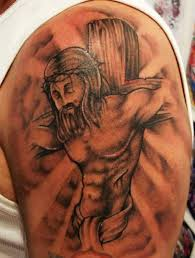jesus on a cross religious tattoo design of tattoosdesign of tattoos