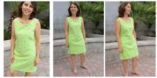 lilly shift dress pattern potm so sew easy