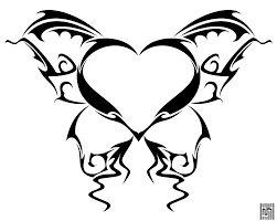 butterfly heart tattoo detail by cow41087 deviantart com on