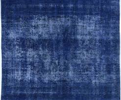 10 u0027x12 u0027 persian design vibrant blue overdyed hand knotted wool