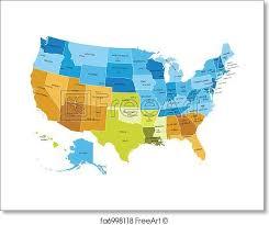 map usa states cities printable free print of usa map with names of states usa states map