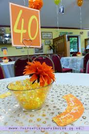 table centerpieces for party orange yellow 40th birthday party decorations