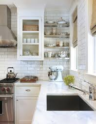 Kitchen Subway Tile Backsplash Designs White Subway Tile Backsplash Fair White Kitchen With Subway Tile