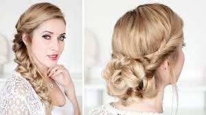 chignon mariage facile a faire tuto coiffure pour les fêtes chignon de soirée cheveux mi