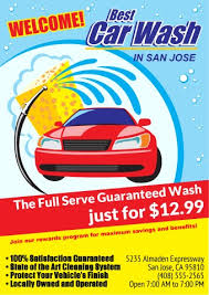 car wash poster template how to print a car wash poster