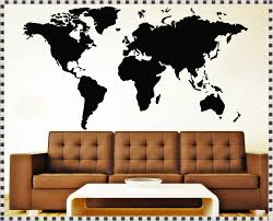Wall Decals Amazon by World Map Wall Decal With Pins Home Decorations Ideas