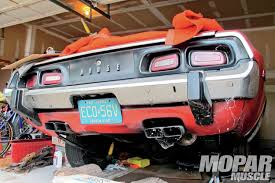 Dodge Challenger Quality - refinishing the tail end of a 1973 dodge challenger mopar muscle