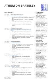 Senior Web Designer Resume Sample Senior Graphic Designer Resume Cover Letter Battlegoal Gq