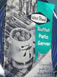 west bend electric buffet warmer plate patio print crock