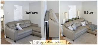 table behind couch name 25 sofa table tutorial