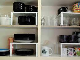 kitchen contemporary cupboard shelf organizer kitchen cabinet