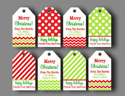 personalized christmas gifts personalized christmas gift tags printable or printed with