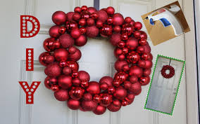 Easy Homemade Christmas Ornaments by Easy Diy Ornament Wreath Youtube