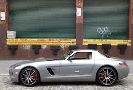 mercedes sls amg gt mercedes gullwing coupe takes flight in york city ny