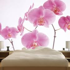wall stickers uk wall art stickers kitchen wall stickers wm19004 walplus pink orchid wall mural 300cm x 280cm