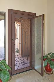 modern entry doors custom swirl iron entry door by first impression security doors