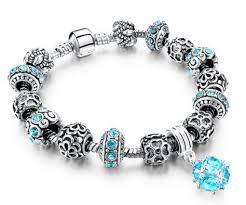 sterling pandora style bracelet images Pandora style austrian crystal charm bracelet jpg