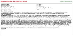 Example Nurse Cover Letter Free by Public Health Nurse Cover Letter