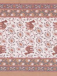floral camel print king size cotton fabric double bedsheet