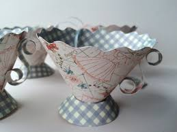 Miniature Tea Cups Favors by Paper Tea Cups Birthday Favors Bridal Shower Tea