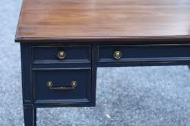 vintage wood desk coastal blue and java gel vintage desk