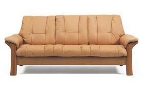 Low Back Leather Sofa Circle Furniture Windsor Stressess Lowback Sofa Ekornes Ma