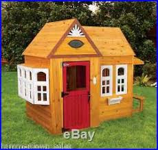 Wooden Backyard Playhouse Outdoor Playhouse Garden Wendy House Park Cafe Kids Play Den Adventure