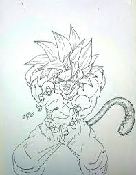 drawing goku ssj4 kamehameha dragon ball gt dragonballz amino