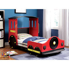 Twin Bed For Boys Acme Furniture Tobi Locomotive Twin Canopy Bed Hayneedle